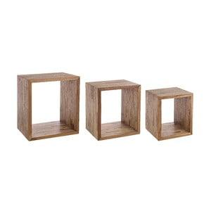 Zestaw 3 półek z drewna wtórnego Bizzotto Alvin