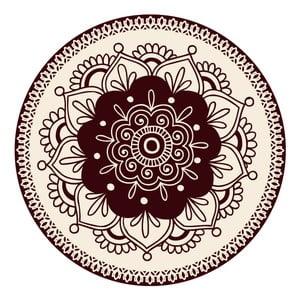Zestaw 2 mat stołowych Brown Circle