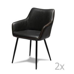 Zestaw 2 czarnych krzeseł Knuds Maria