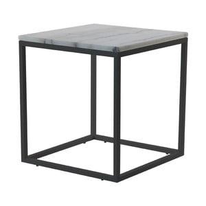 Marmurowy stolik z czarną konstrukcją RGE Accent, 50x50cm