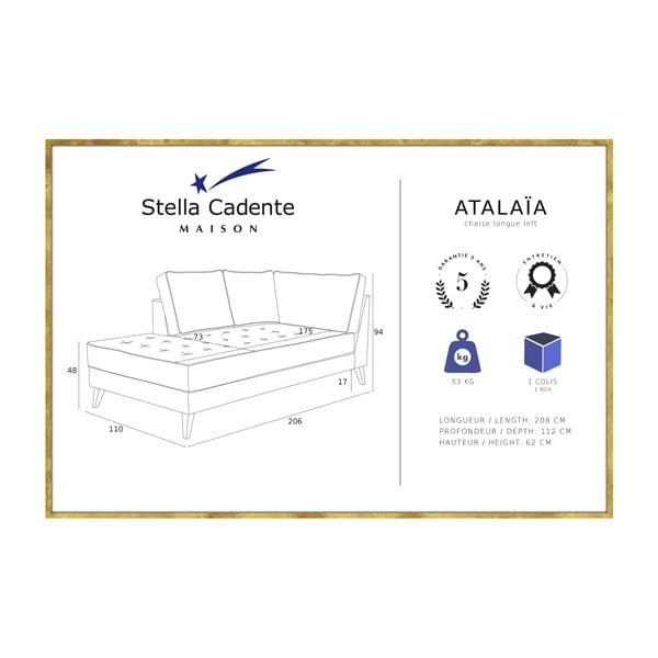 Jasnoróżowy szezlong z kremową lamówką Stella Cadente Maison Atalaia, prawostronny