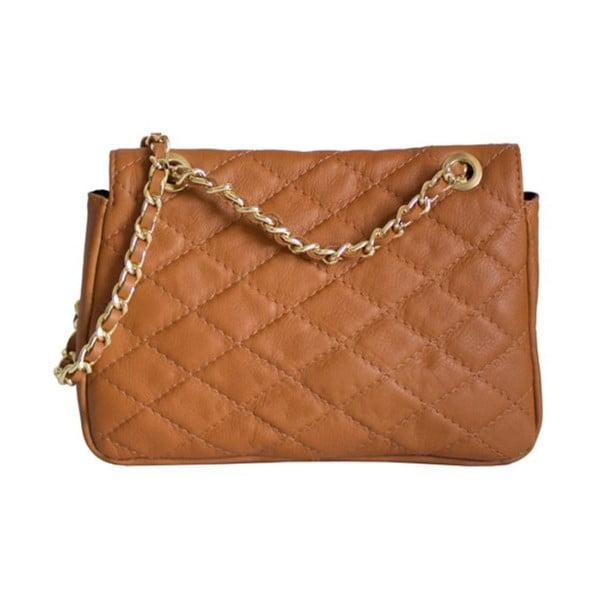 Skórzana torebka Valentina Cognac