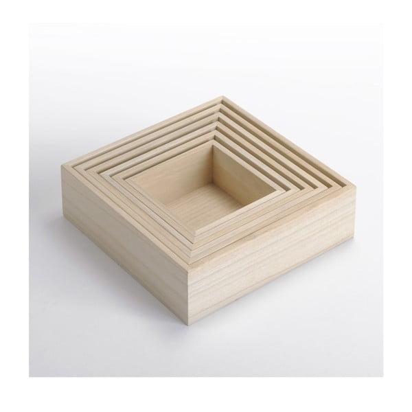 Zestaw drewnianych pudełek 6 w 1 Caisses