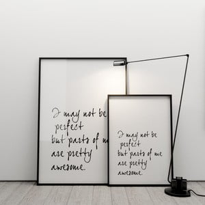 Plakat I may not be perfect, 50x70 cm