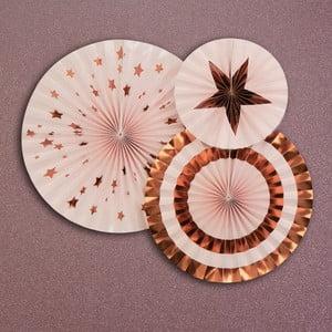 Zestaw 3 różowych dekoracji Neviti Glitz & Glamour