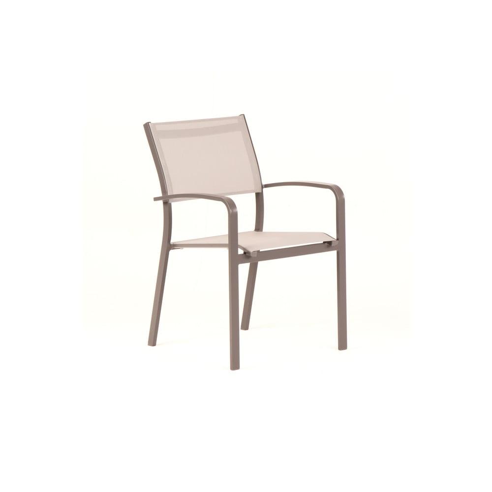 Zestaw 4 beżowych krzeseł ogrodowych Ezeis Zephyr