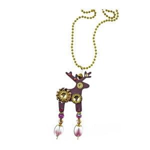 Fioletowy wisiorek jeleń na łańcuszku Deers Baloonka