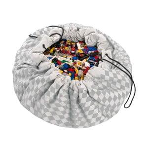 Mata do zabawy i worek na zabawki w jednym Play & Go Diamond Grey