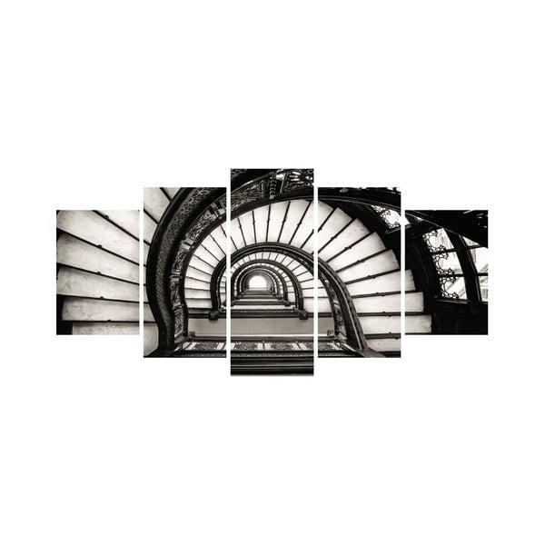 Wieloczęściowy obraz Black&White no. 92, 100x50 cm