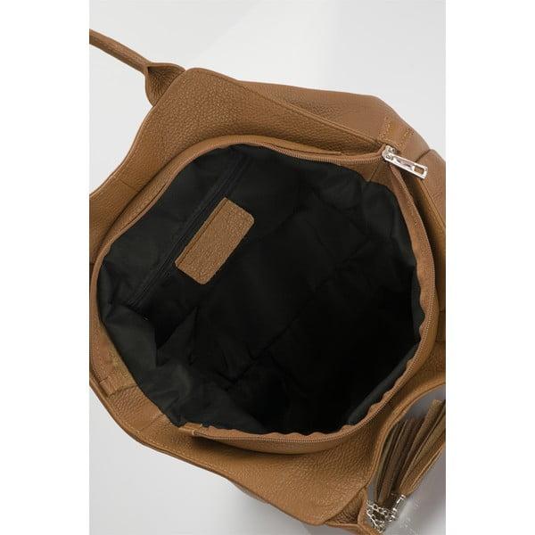 Skórzana torebka Markese 5021 Cognac