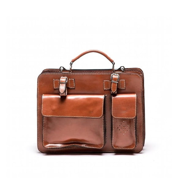Skórzana torebka  Isabella Rhea 305 Cognac