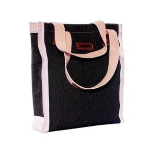 Pleciona torba Ana Bag, czarna