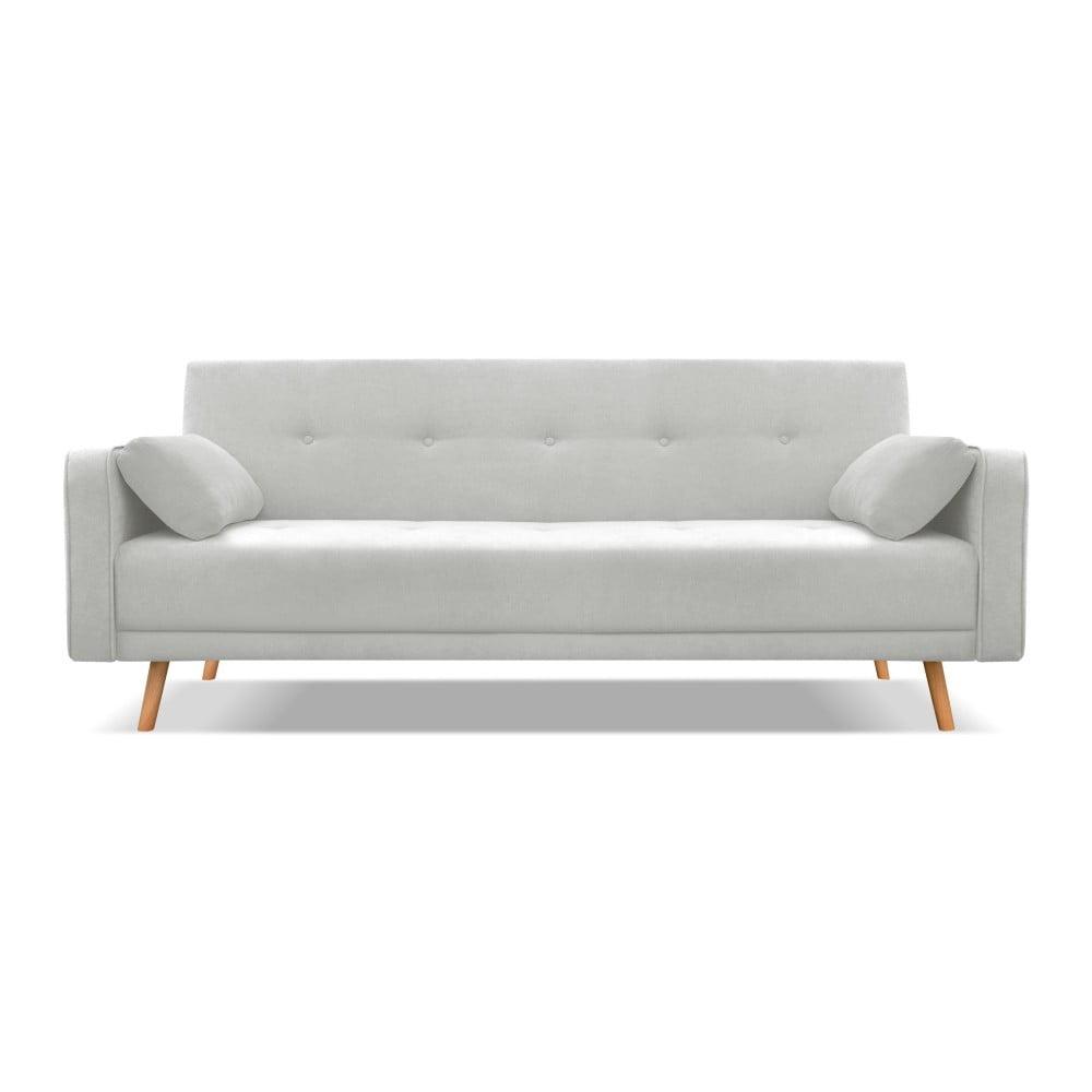 Jasnoszara sofa rozkładana Cosmopolitan Design Stuttgart, 212 cm