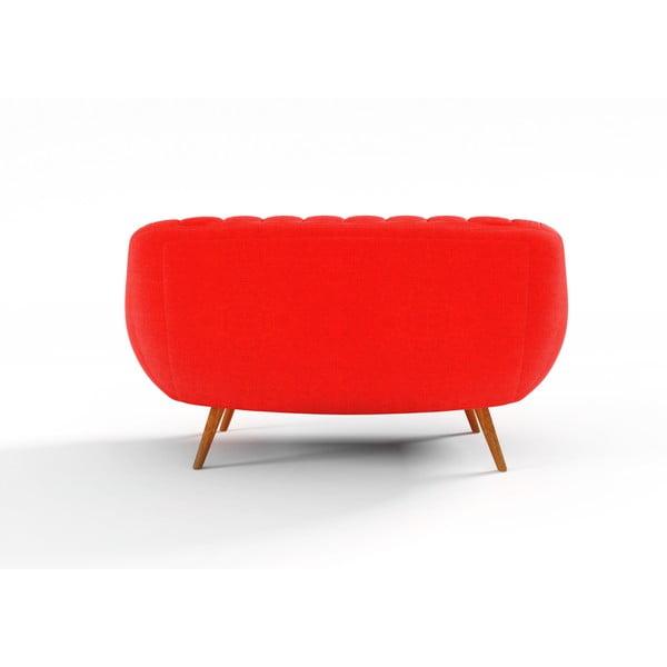 Pomarańczowa   sofa dwuosobowa Wintech Azzurre