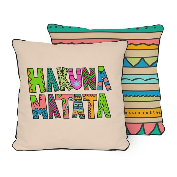 dwustronna poduszka little nice things hakuna bonami. Black Bedroom Furniture Sets. Home Design Ideas