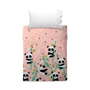 Narzuta i poszewka na poduszkę Moshi Moshi Panda Garden, 100x135 cm