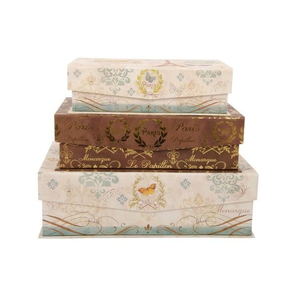 Zestaw 3 pudełek Le Papillon Paris