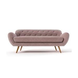 Jasnobrązowa   sofa trzyosobowa Wintech Zefir