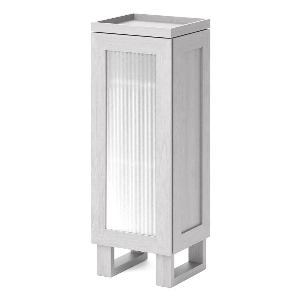 Białą szafka łazienkowa z drewna dębowego Wireworks Mezza