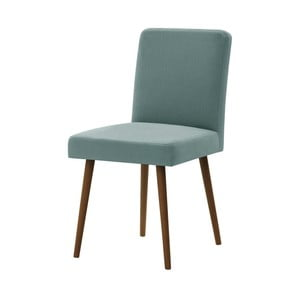 Miętowe krzesło z ciemnobrązowymi nogami Ted Lapidus Maison Fragrance