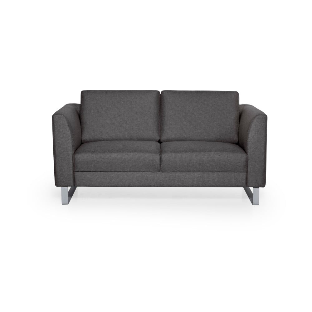Antracytowa sofa 2-osobowa Softnord Geneve