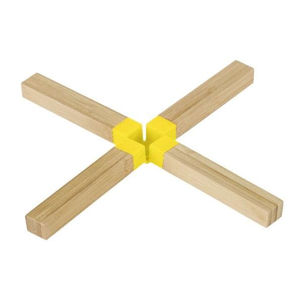 Bambusowa podkładka pod garnek Cross Yellow