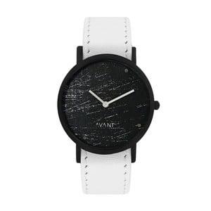 Czarny zegarek unisex z białym paskiem South Lane Stockholm Avant Raw