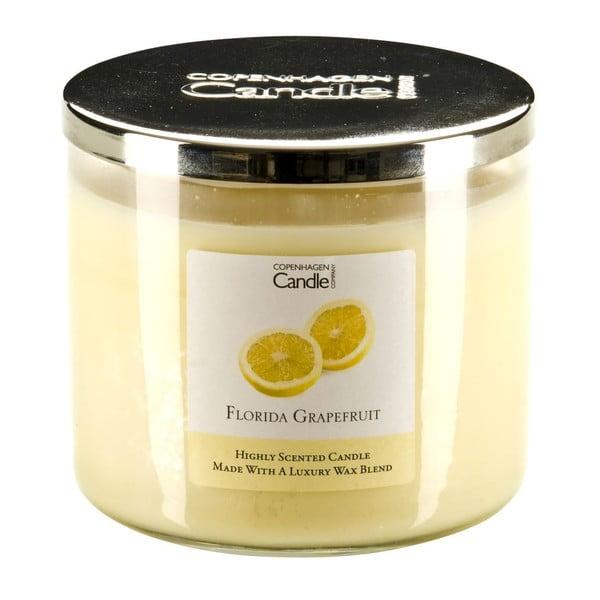 Świeczka o zapachu grejpfrutu Copenhagen Candles Florida,czas palenia 50 godz.
