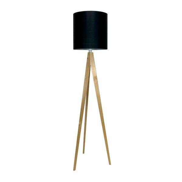 Czarna lampa stojąca 4room Artist, brzoza, 158 cm