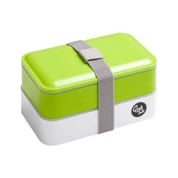 Zielony pojemnik na przekąskę Premier Housewares Grub Tub