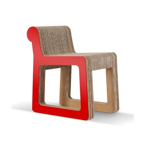 Kartonowe krzesło Knob Red