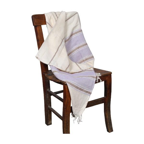Jasnofioletowy ręcznik hammam Veronica Lilac, 90x190cm