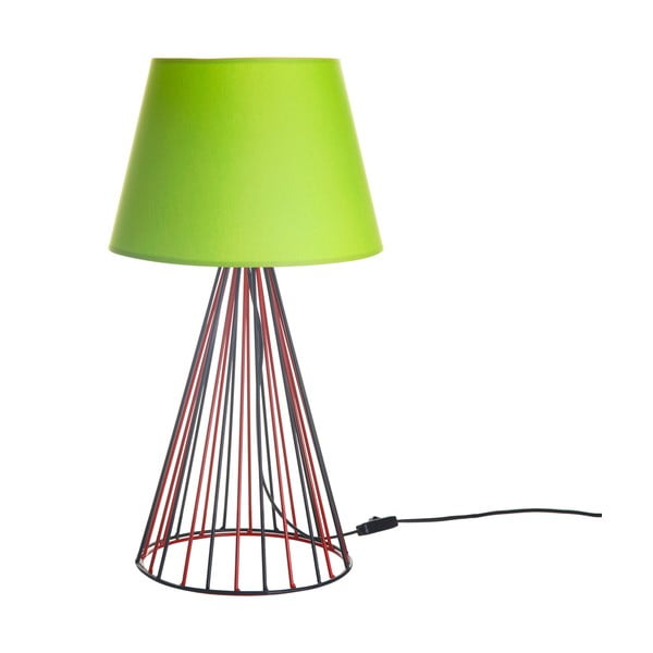 Lampa stołowa Wiry Lime/Red/Black