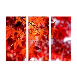 Trzyczęściowy obraz Na jesień