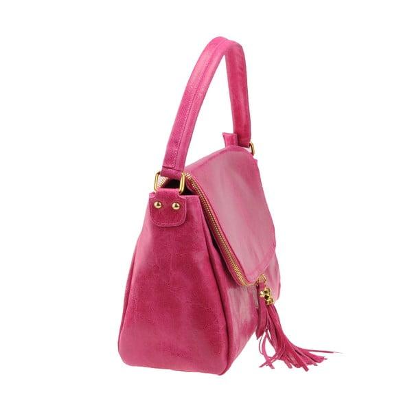 Skórzana torebka Diadema, różowa
