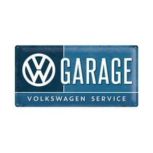 Blaszana tabliczka VW Garage, 25x50 cm
