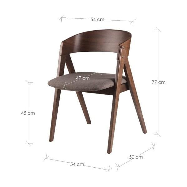 Zestaw 2 brązowych krzeseł sømcasa Rina