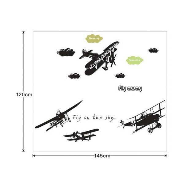 Naklejka dekoracyjna Fly Away, 120x145 cm