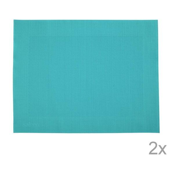 Zestaw 2 mat stołowych Saleen Blue, 30x40 cm