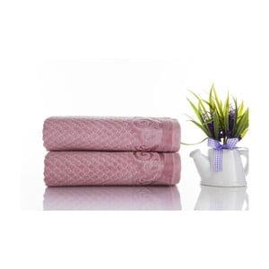 Zestaw 2 ręczników Acustic Rose, 50x90 cm