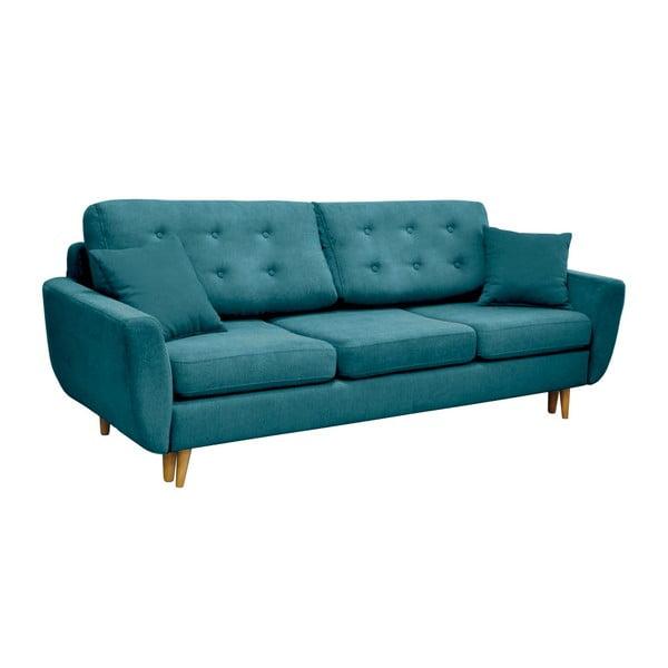 Turkusowa 3-osobowa sofa rozkładana Cosmopolitan design Barcelona