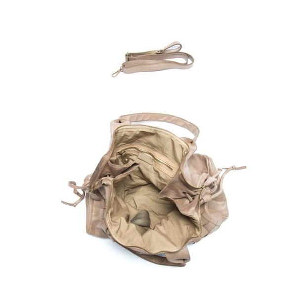 Skórzana torebka Mangotti 0007, kamień