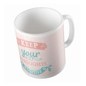 Kubek ceramiczny Positive Thoughts, 330 ml