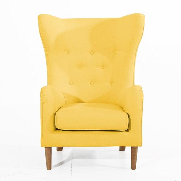 Żółty fotel Max Winzer Miriam