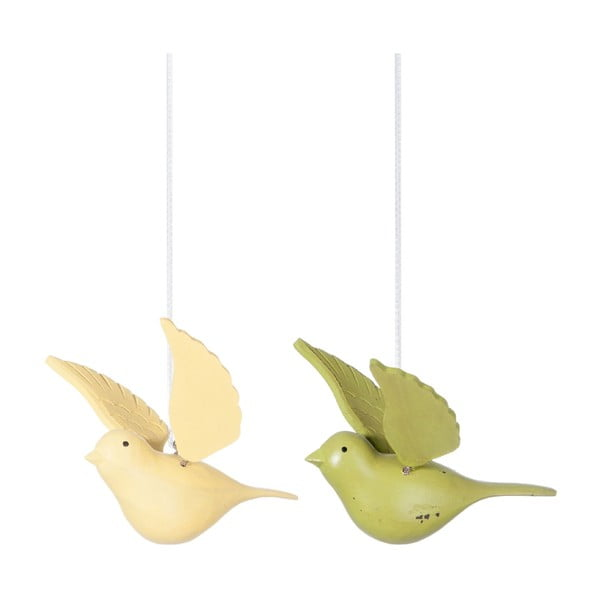 Zestaw 2 wiszących dekoracji Bird Hang