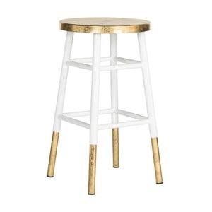 Biało-złoty stołek Safavieh Counterstool