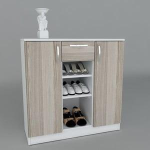 Szafka na buty Useful White, 90x90x35,3 cm