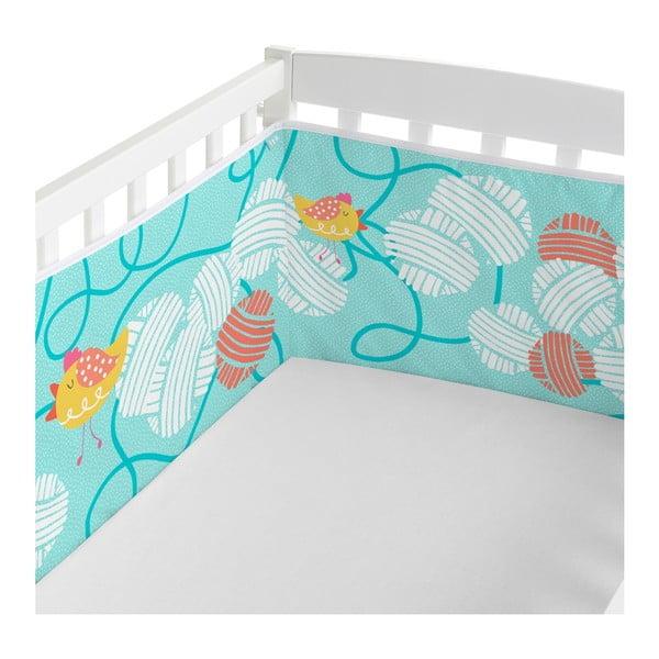 Ochraniacz do łóżeczka Moshi Moshi Cat & Mouse, 210x40 cm
