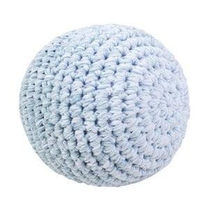 Niebieska szydełkowa piłeczka Sebra Crochet Ball, ⌀ 14 cm