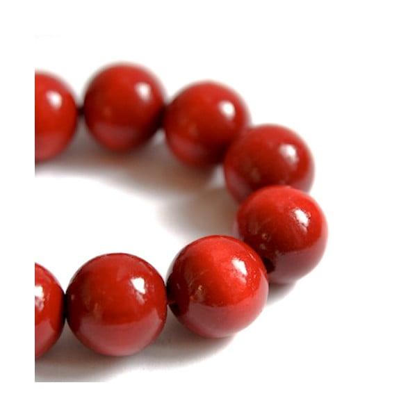Czerwona bransoletka drewniana Ko–ra–le Bubbles